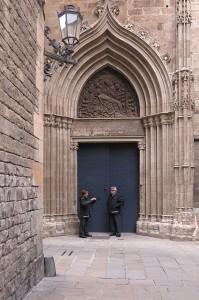 Cathedral Doorway, Barcelona, Spain